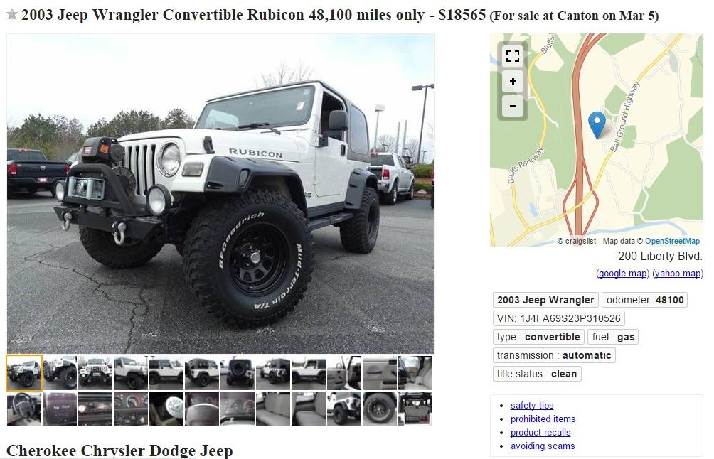 Craigslist North Carolina Cars. Free Craigslist ...